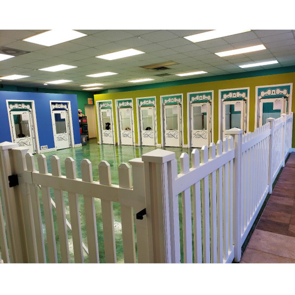 Suite Life Pet Resort's Gator Kennels gates.