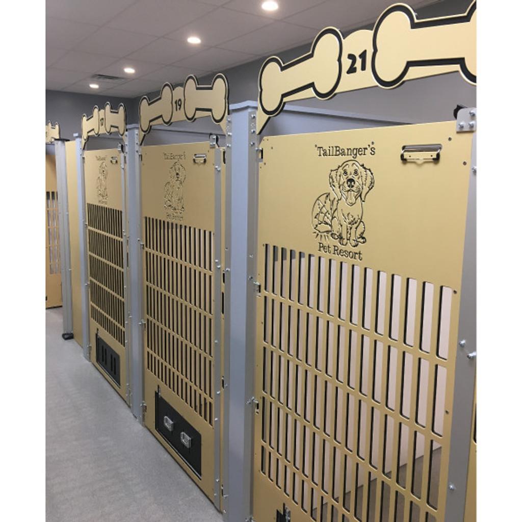 Tail Banger's Pet Resort custom gates.