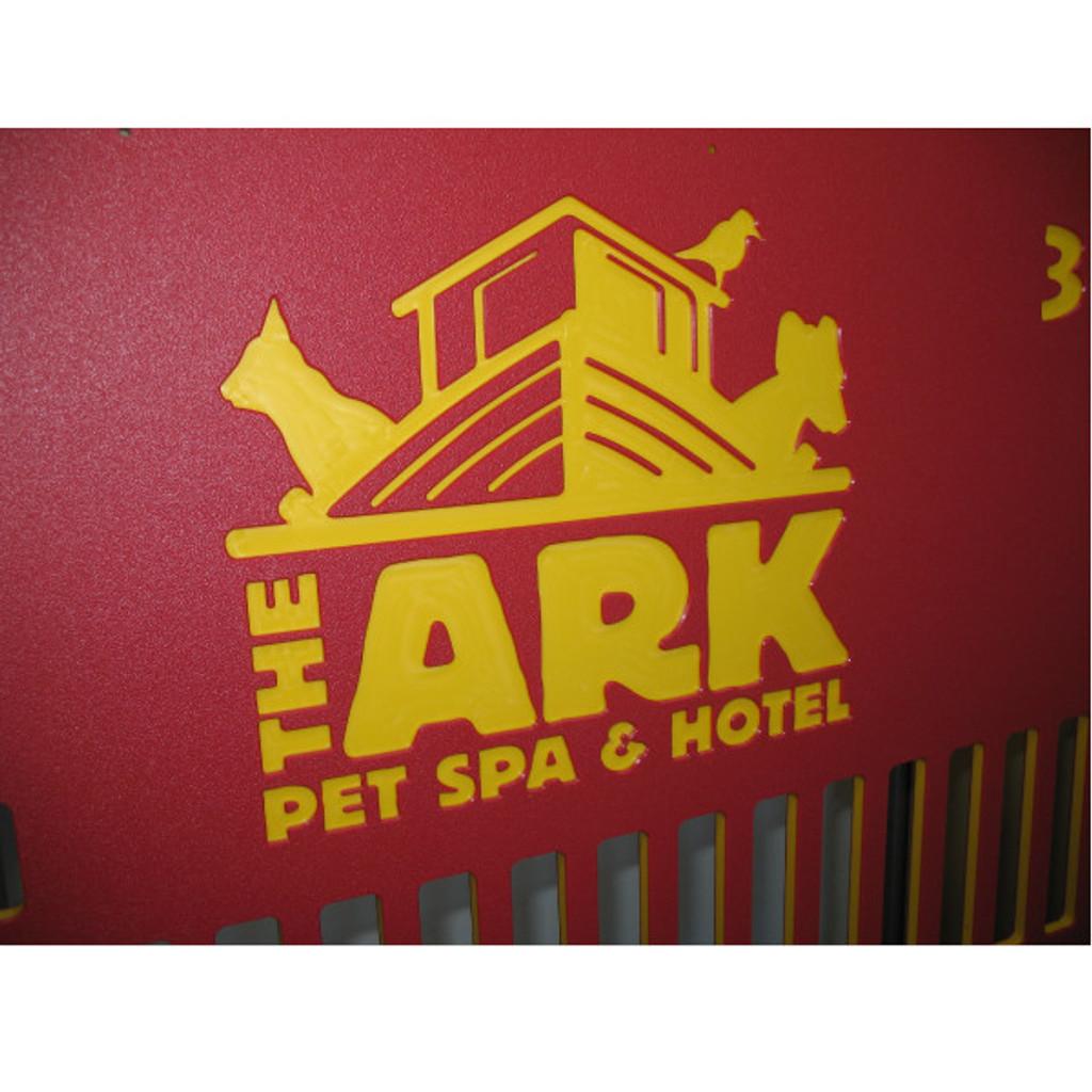 The Ark Pet Spa & Hotel custom kennel gates.