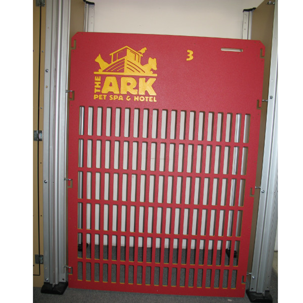The Ark Pet Spa & Hotel custom kennel gates.