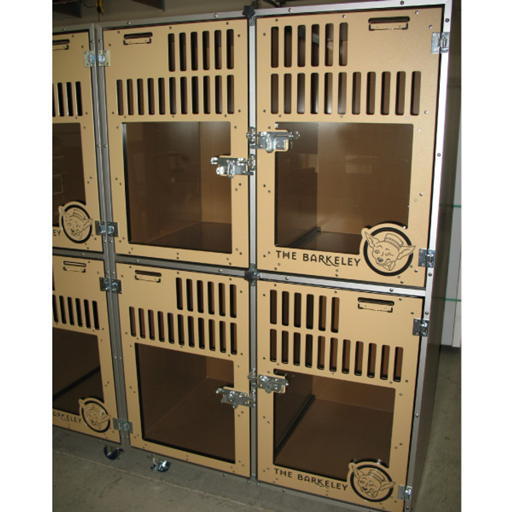 The Barkmont  (formally The Barkeley) uses Gator Kennels Double Stack for Boarding units.