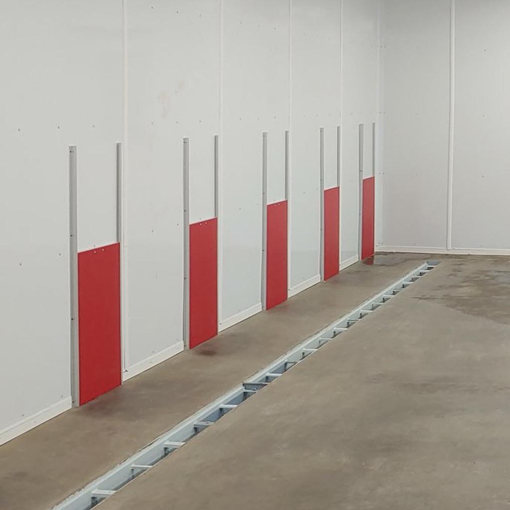 Top Dog Kennels' Gator Kennels Transfer gates in red.