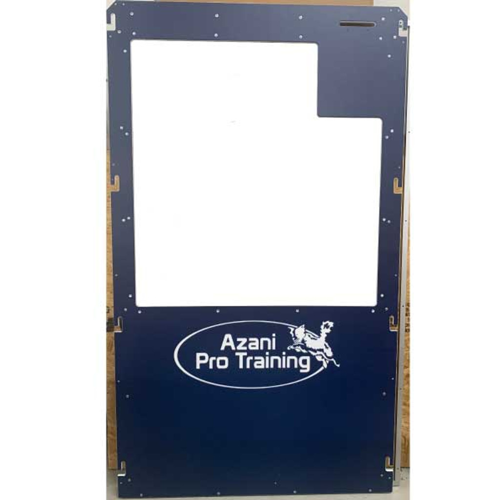 Azani Pro Training custom Gator Kennels gates in navy blue.