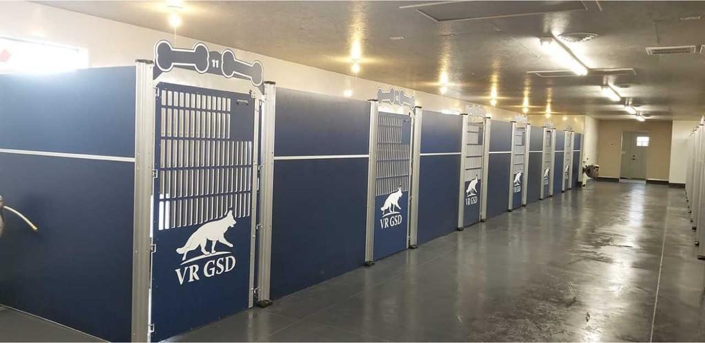 Von Rief German Shepherds' Gator Kennels custom dog kennels.