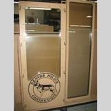 Denver K9  dog kennel gates with custom logo.