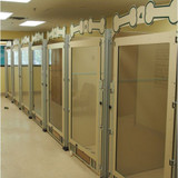 Custom  dog kennels with full glass gates.