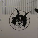Sit Means Sit Logo engraved dog kennel gates.