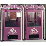 Pinnacle Pets custom dog kennels purple logo.