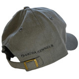 The Gator Kennels logo modestly embroidered on the back of the grey hat.
