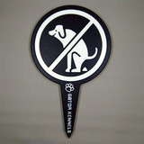 Black no dog poop image yard sign made from HDPE plastic.