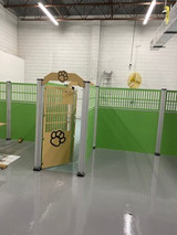 Happy Campers uses Gator Kennel's panels and gates for their many play areas.