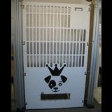 Half slotted white kennel gates for iCare K9.