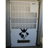 Half slotted white kennel gates for iCare K9.