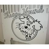 Shaggy Hound Gator Kennels gate with custom logo.
