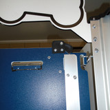 My Pets Place at Redstone's Gator Kennels Signature Series, close up on gate latch.