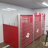 Top Dog Kennels putting up their Signature Series kennels.