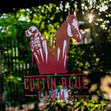 Cuttin Blue Farms' logo.