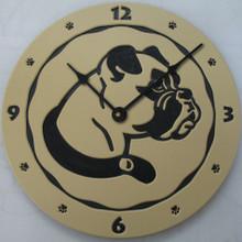 Boxer clock - tan.