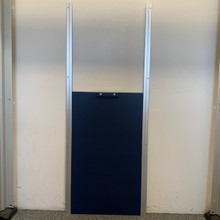 Navy Blue Transfer Gate system showing gate and rails.