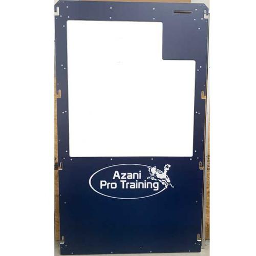 Azani Pro Training custom Gator Kennels gates in navy blue.