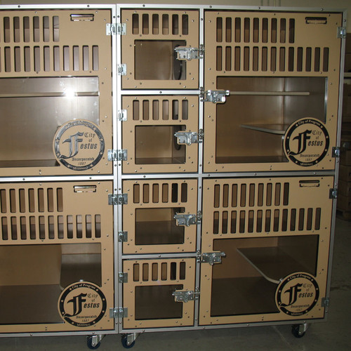 Cat Cages with custom logo.
