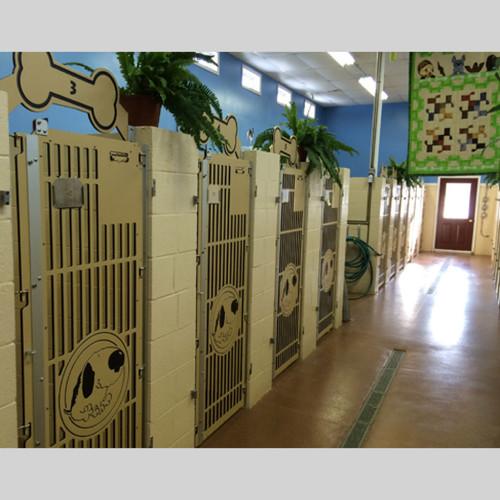Bark of the Town's custom dog kennel gates.