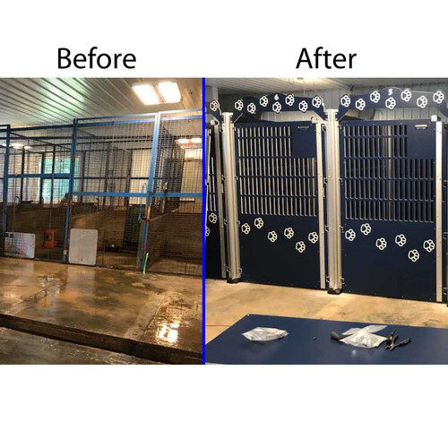 Before and after picture of Garrard County Animal Shelter.