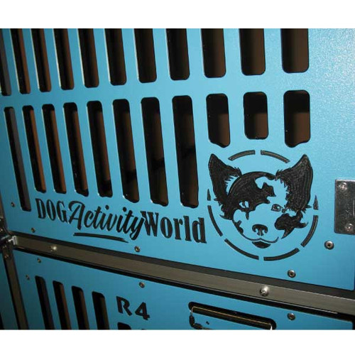 Dog Activity World Double Stack for Grooming custom logo.