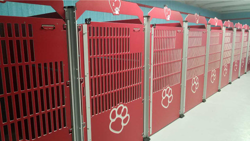 Stagecoach Dog Boarding's Gator Kennels full commercial dog kennels.