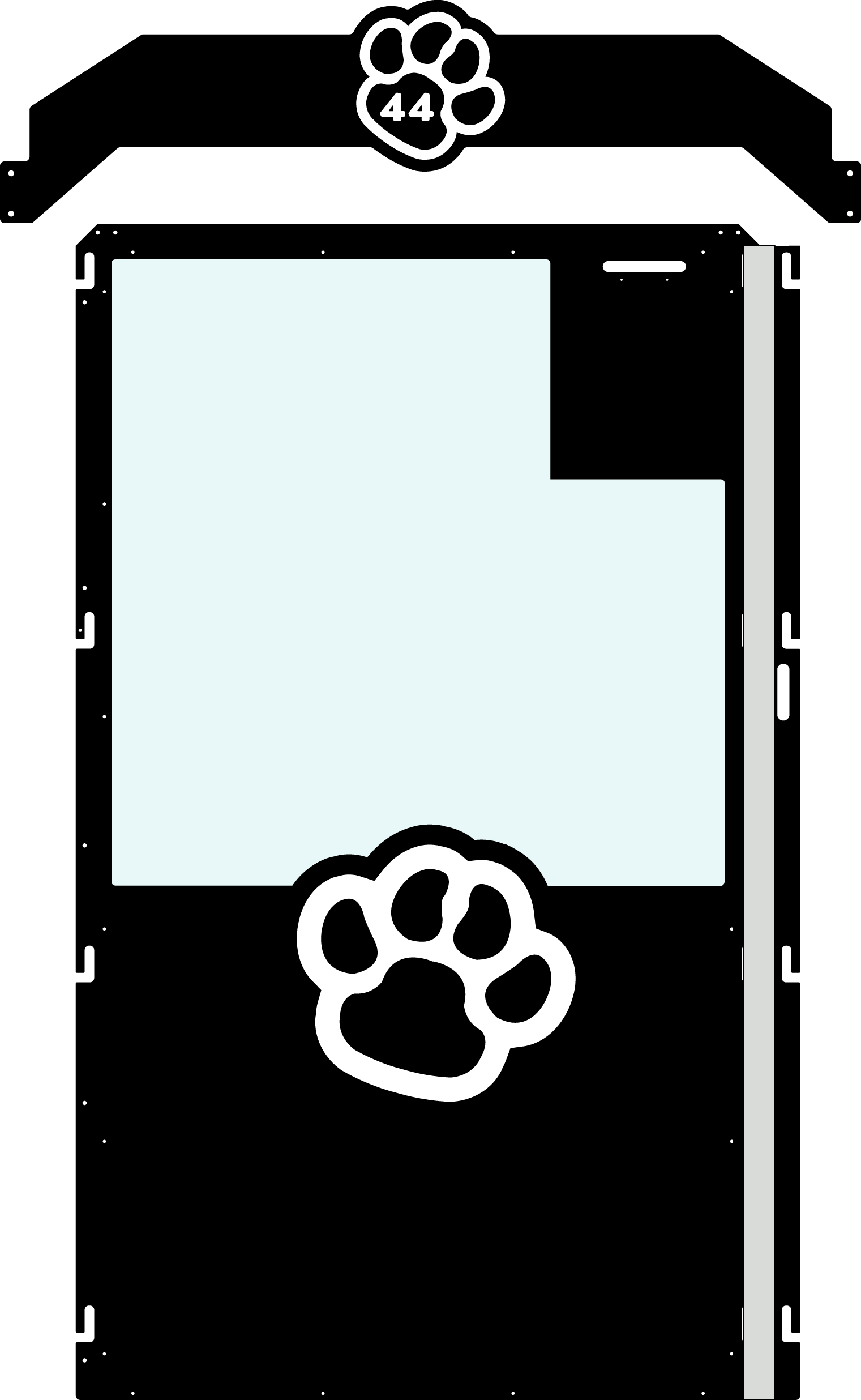 Black Gator Kennel Gate example