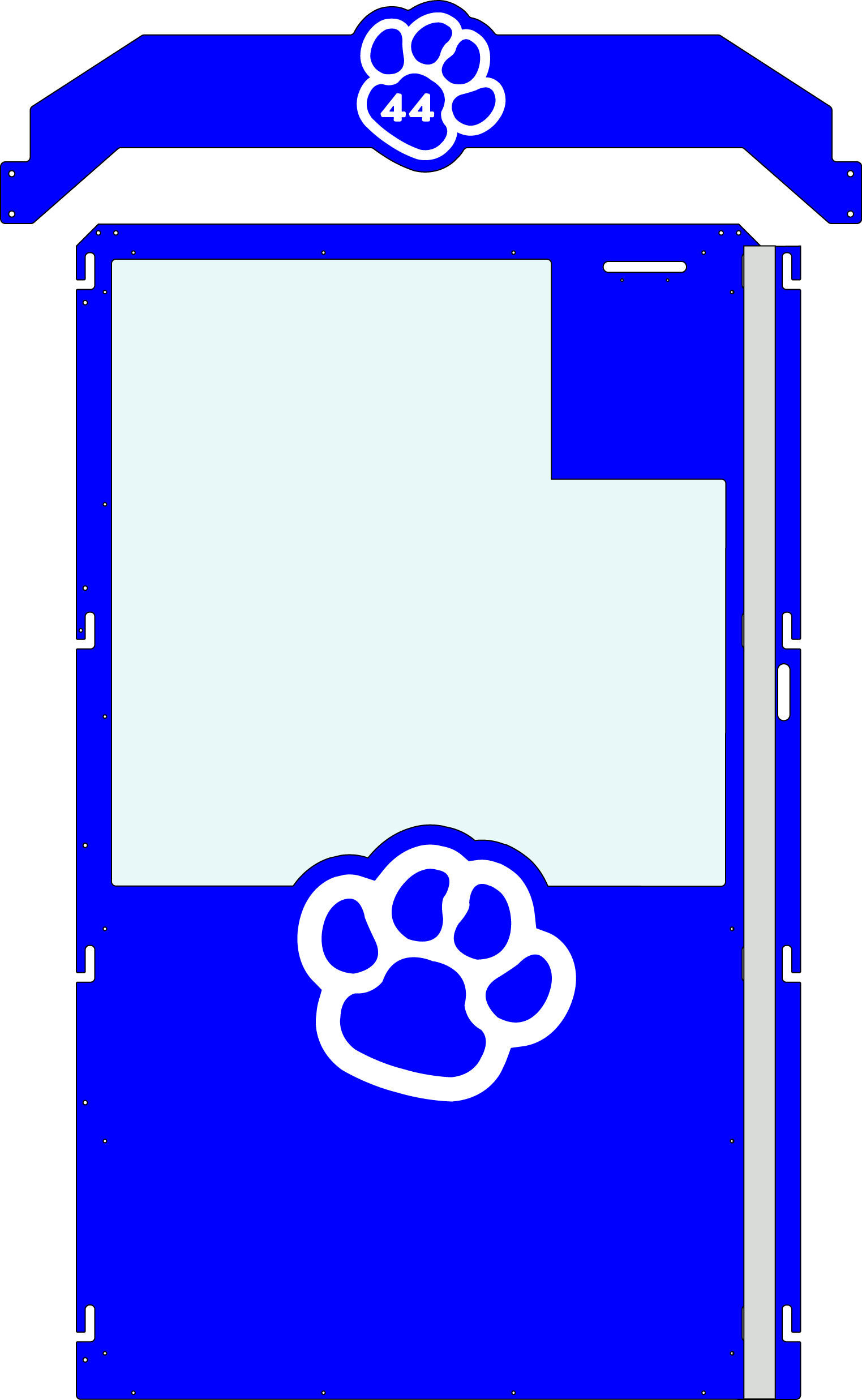 Royal Blue Gator Kennel gate example
