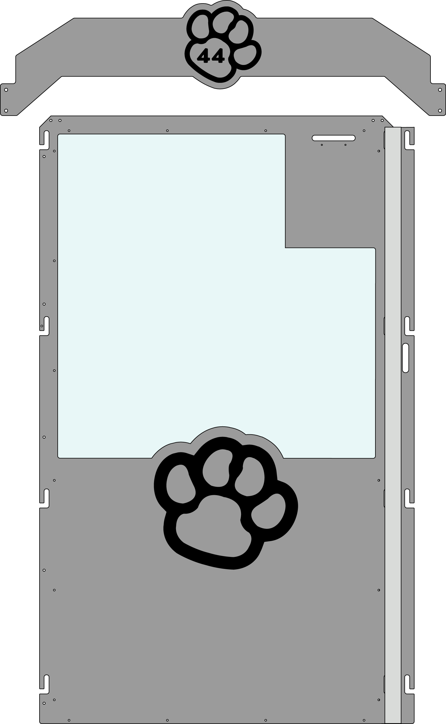 Grey Gator Kennel Gate example