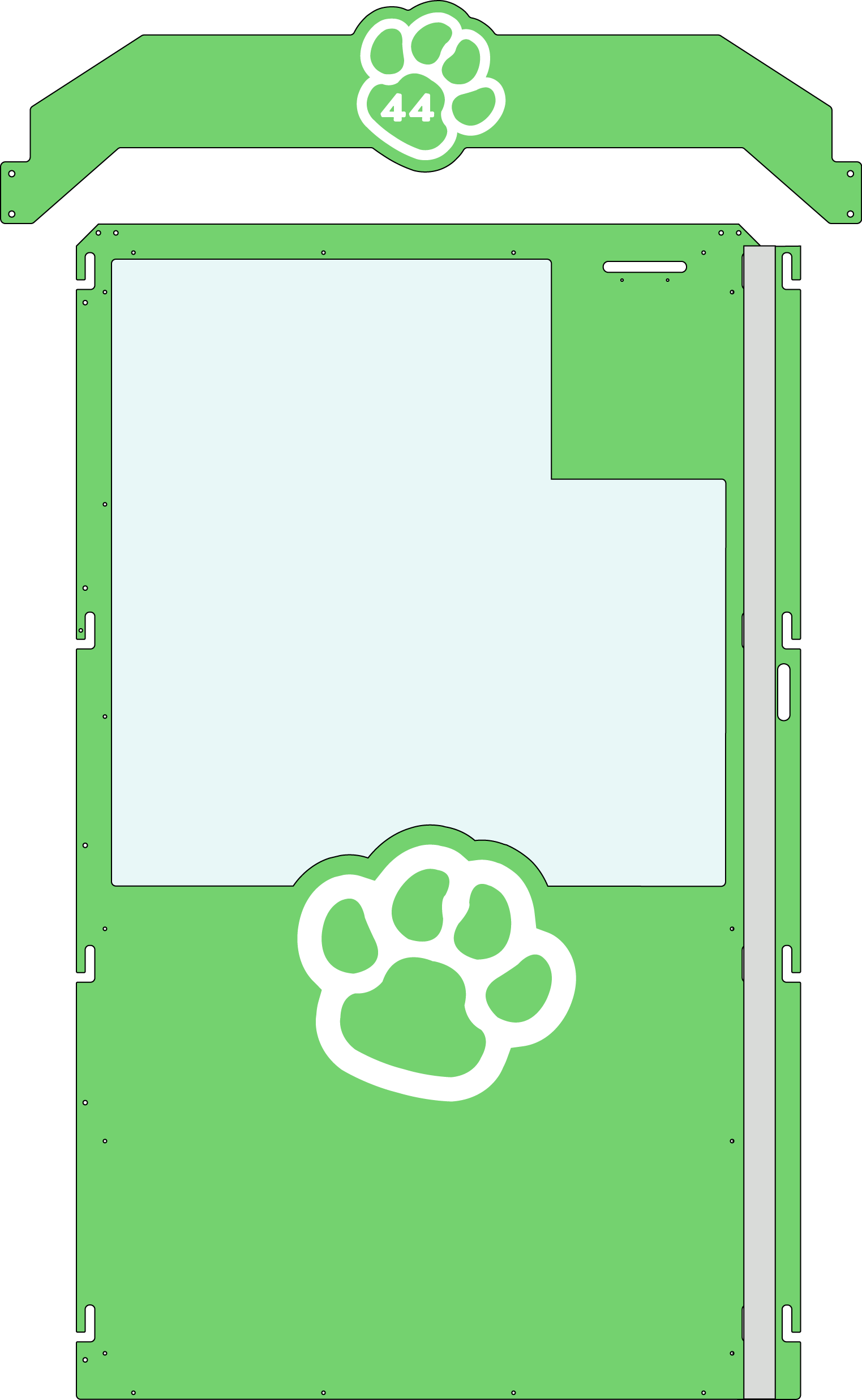 Lime-white Gator Kennels Gate example