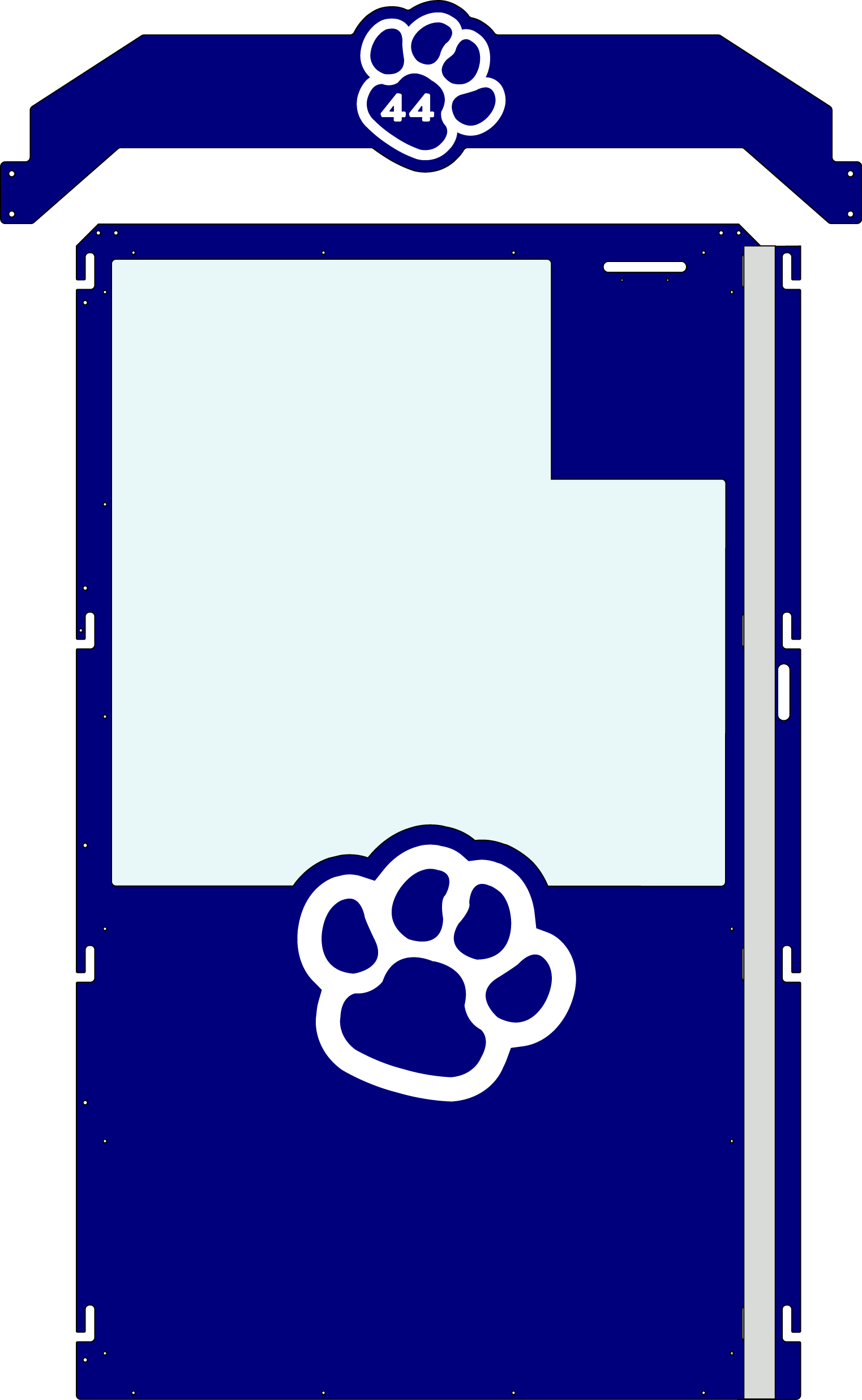 Navy Blue Gator Kennel gate example