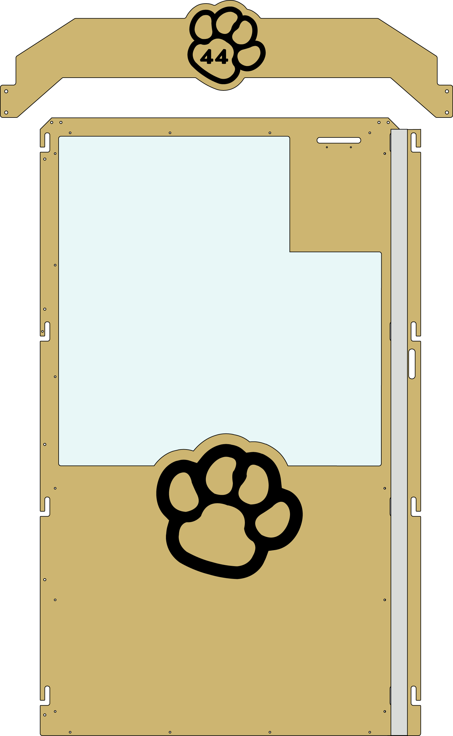 Tan Gator Kennels Gate example