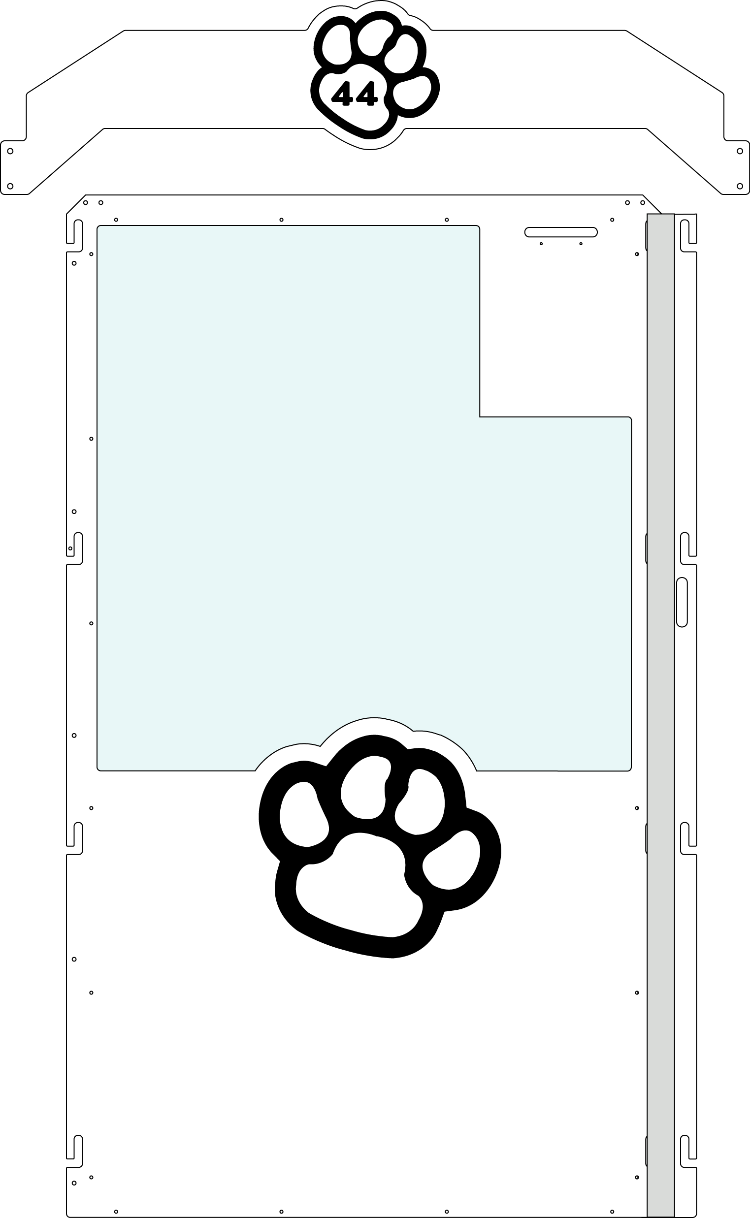 White Gator Kennels Gate example