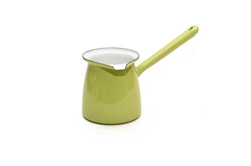 Enamel Pistachio Green Turkish Coffee Pot - 300ml