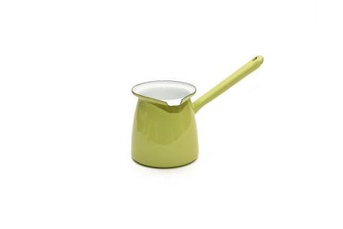 Enamel Pistachio Green Turkish Coffee Pot - 500ml
