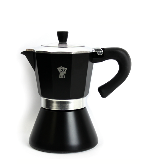 Pezzetti Bellexpress 6 Cup Black Coffee Maker - Induction
