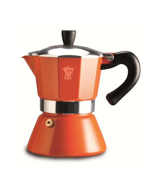Pezzetti Bellexpress 6 Cup Orange Coffee Maker - Induction