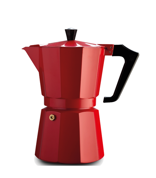 Italexpress 6 Cup Red Stove Top Cafetiere