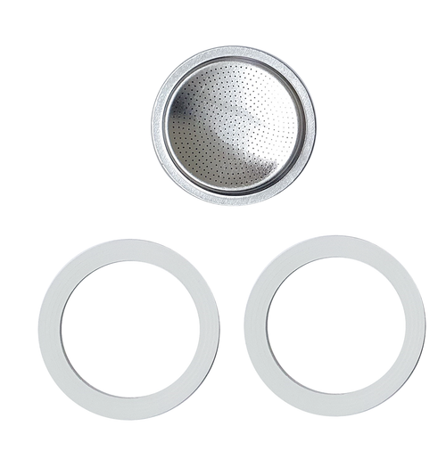Pezzetti Stainless Steel 6 Cup Silicone Gasket Set