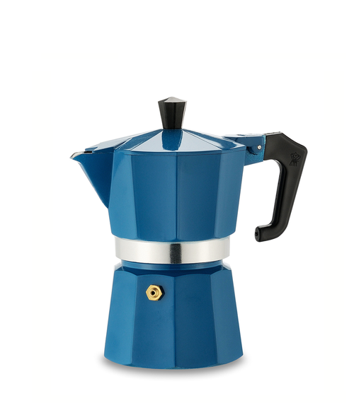 Italexpress 3 Cup Teal Blue Stove Top Cafetiere