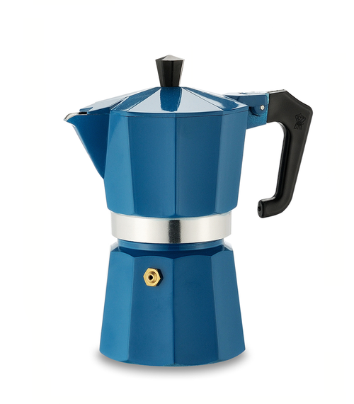 Italexpress 6 Cup Teal Blue Top Cafetiere