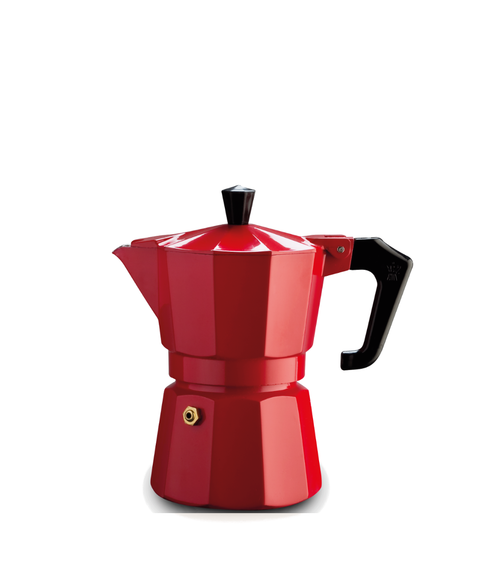 Italexpress 1 Cup Red Stove Top Cafetiere