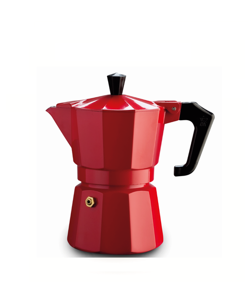 Italexpress 3 Cup Red Stove Top Cafetiere