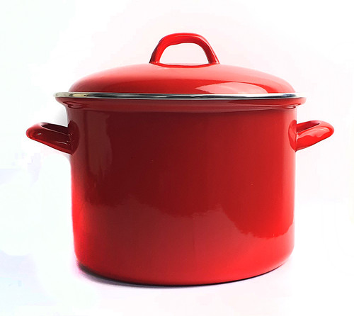 Bialetti Enamel Stock Pot - Red