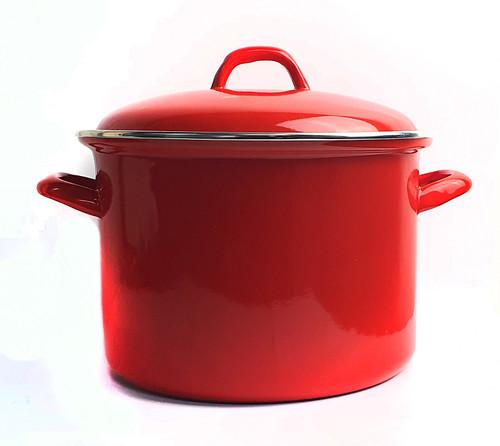 Bialetti Enamel Stock Pot - Red