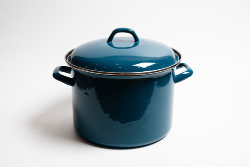 Bialetti Blue Enamel Stock Pot