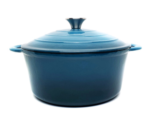28cm Enamelled Round Cast Iron Casserole - Sky Blue (OUT OF STOCK - ETA MAY)